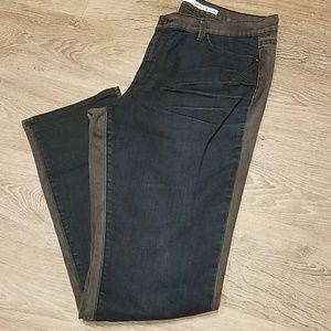 DKNY SOHO Skinny Jean's Two Toned Size 14